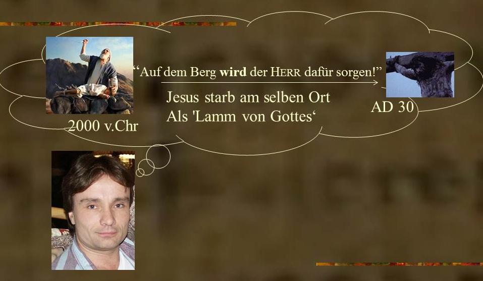 Abrahams Opfer ist ein Zeichen für das Opfer Jesu