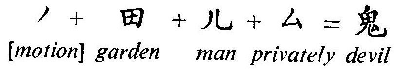 (ins)geheim +        Mann       +    Garten          +    [lebendig]    =      Teufel