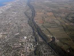 Das Niagara-Eskarpment ist eine geologische Aufschiebung über hunderte von Kilometern hinweg.