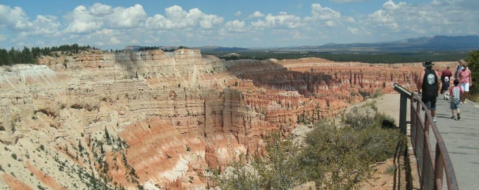 Sedimentformationen im Bryce Canyon im Mittelwesten der USA