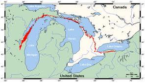 Diese sedimentäre Formation bedeckt einen Großteil Noramerikas.