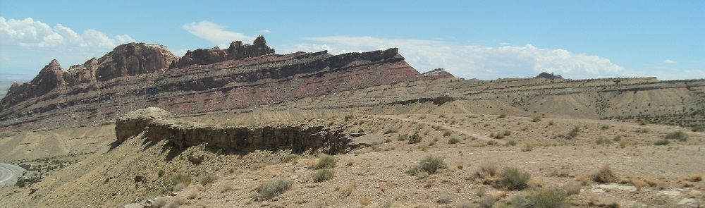 Die Sedimentformationen erstrecken sich immer weiter und weiter...