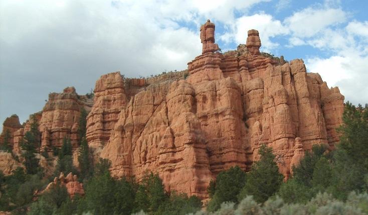 In dieser Sedimentformation im Mittelwesten der USA gibt es keine Hinweise auf irgendwelche Erdbodenschichten oder auf Bioturbation.